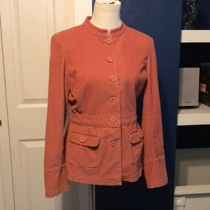 Fitted corduroy coral jacket